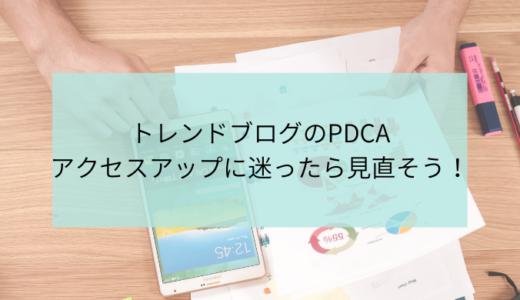 トレンドブログのPDCA!アクセスアップの為の検証方法を徹底解説!