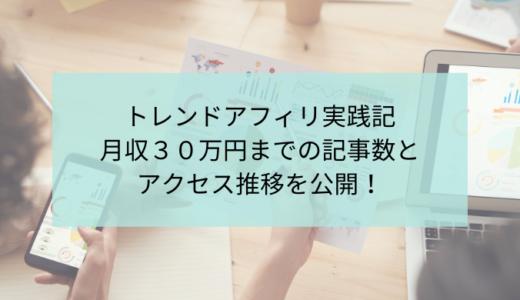 トレンドブログ実践記!月収30万円までの記事数とアクセス推移を公開!